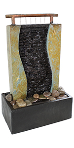 bending slate tabletop fountain
