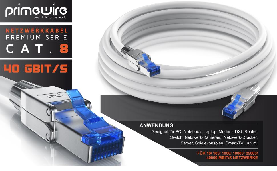 Csl 10m Cat 8 Netzwerkkabel 8 1 Standard Class Elektronik