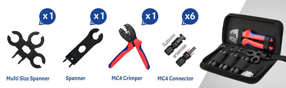 EyPiNS Crimpatrice solare Pinza a crimpare MC3 MC4 Pinza a crimpare 26-10 AWG Spina a cricchetto per cavo terminale fotovoltaico pannello di moduli solari da 2,5-6,0 mm/²