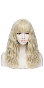 light blonde wig
