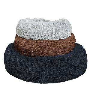 marshmallow cat bed  fluffy cat bed cute cat bed calming cat bed pet beds pet beds for cats faux fur