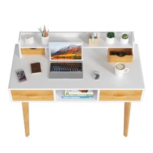HOMECHO Mesa de Ordenador Moderna Escritorio de PC Con 4 Cajones y ...