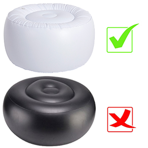 outdoor inflatable ottoman