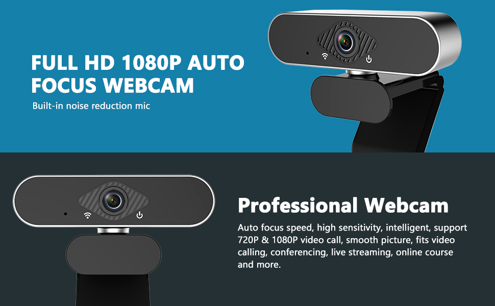 Amazon Com Yvelines 1080p Webcam With Microphone Hd Pc Webcam