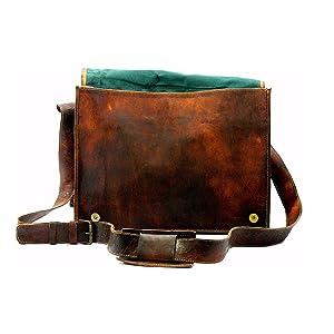 leather shoulder cross body messenger bag