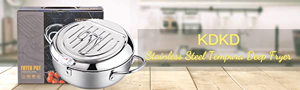 Stainless Steel Deep Fryer Pot Frying Chicken Pot with Temperature Control