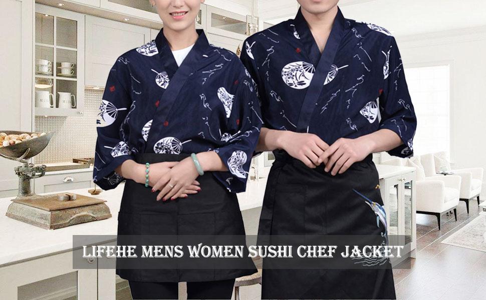 Mens Women Sushi Chef Jacket