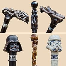 hand carved walking sticks