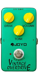 JOYO JF-01 Overdrive Effects Pedal Vintage Overdrive Classic Tube Screamer Pedal for Electric Guitar