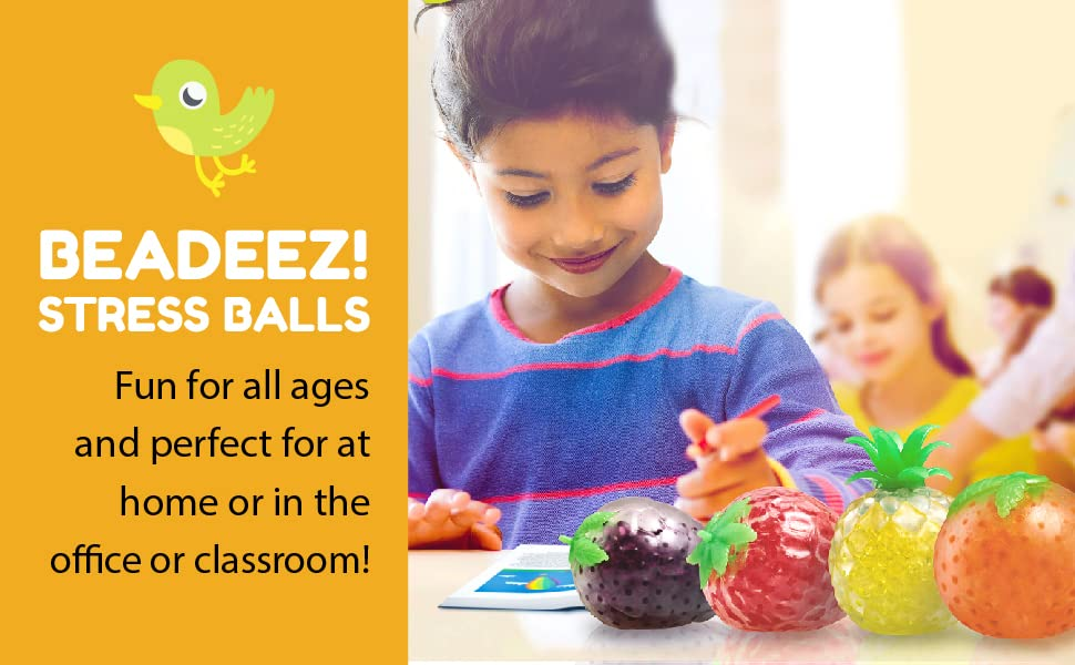 eadeez! Stress Balls. Fun for all ages and perfect for at home or in the office or classroom!