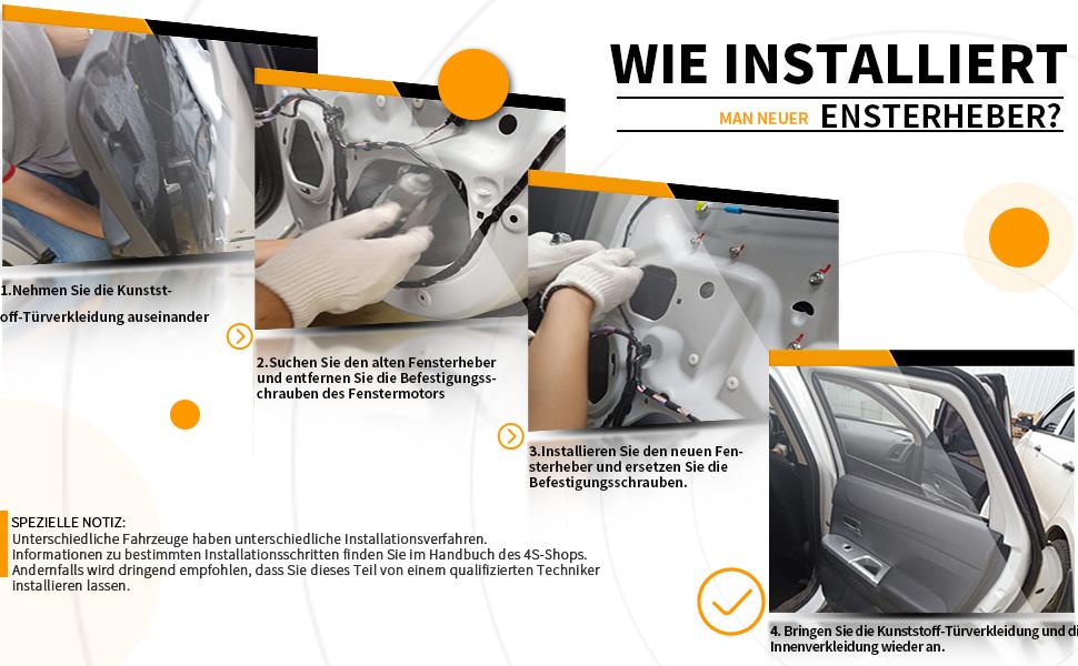 Fensterheber Ohne Motor Vorne Links Für C Klasse W203 S203 Limousine Kombi 2000 2003 2037201546 Baumarkt