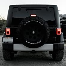 Line amp; Halo Design  60-LED Smoked  Tail Light Straight on with DRL
