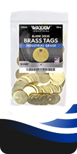 Brass Tags Chits round circular marking tags stamping 1.0 inch