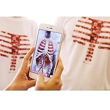 camiseta mágica, realidad aumentada, aprender, cuerpo humano, juguete educativo, Body planet
