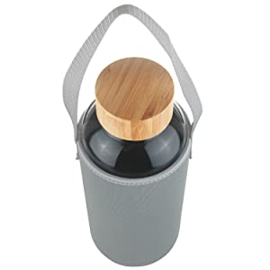 Ferexer 1.5 Liter Sport Borosilikat Trinkflasche Glas