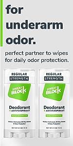 SweatBlock Antiperspirant Deodorant for Armpits Sweat and Odor