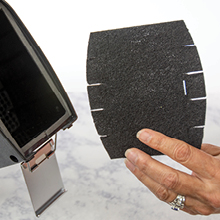 charcoal filter VOCs traps dirt healthy air