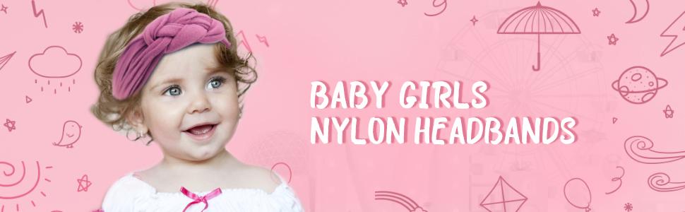 baby girls nylon headbands