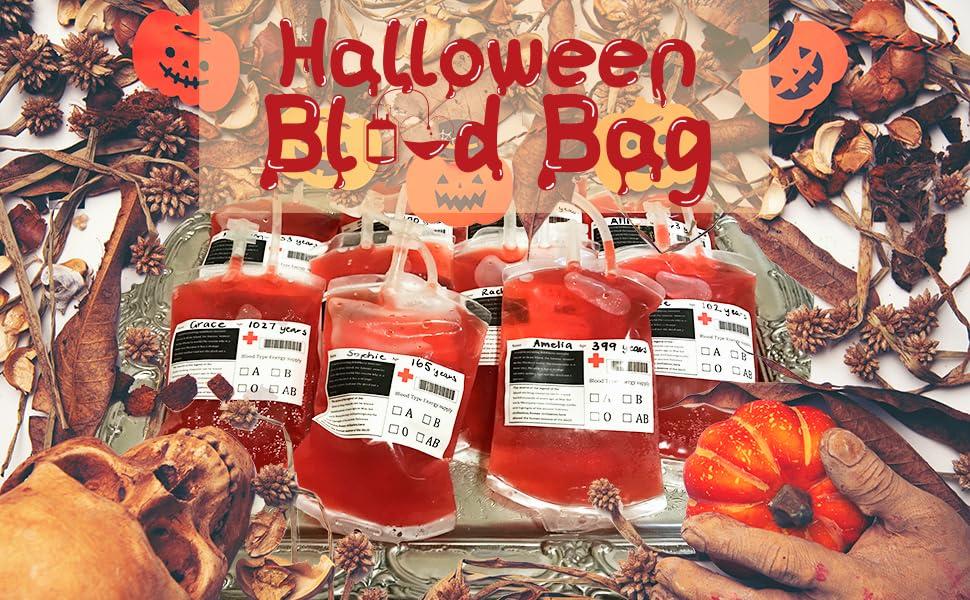 Halloween decoration blood bag party favor
