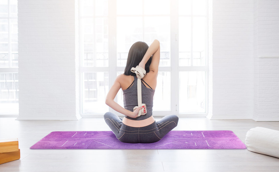 Amazon.com : Yoga Mat Foldable 1/16 Inch Thick Non-Slip ...