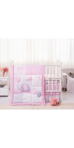 La Premura Baby Elephant Baby Crib Bedding Set for girls