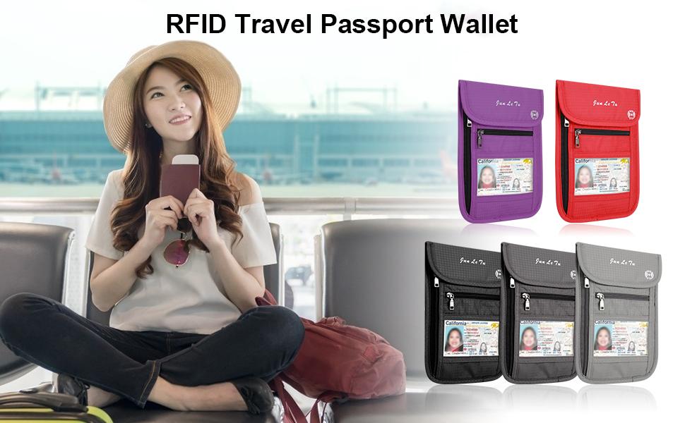 RFID Travel Passport Wallet