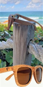 Pelican Sunwear wooden sunglasses brown polarized du dumu wood men women