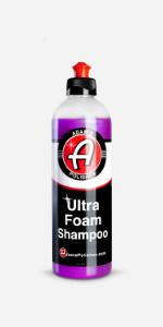 Adam's Ultra Foam Car Shampoo Cleaning Wash Soap For Cars