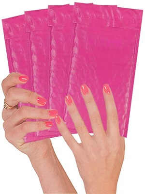 Hot Pink Cushion Envelopes Self-Sealing Laminated Shipping Bags for Mailing Packing 10 Pack Pink Poly Bubble mailers 8.5 x 11 Peel and Seal Packaging in Bulk. Padded Envelopes 8 1//2 x 11
