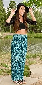 Harem Pants Happy Trunks Summer Lounge Yoga Maternity Clothes Pajama Bohemian Boho Hippie Comfy