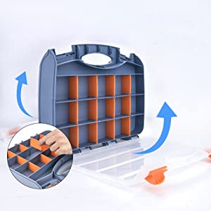 Plastic portable carrying case for bobbins and threads