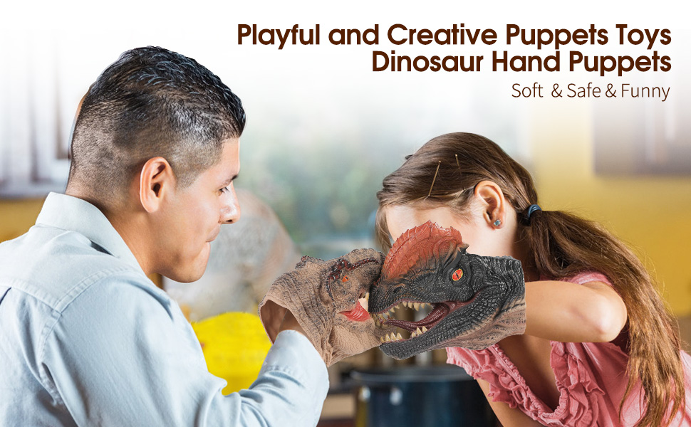 dinosaur hand pupptes toys