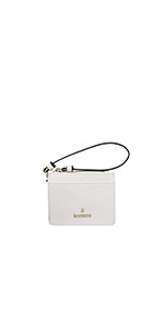 ID case wallet clutch wristlet mini wallet saffiano vegan leather brentano card case
