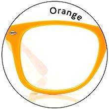 Spiral Diffraction - Bright Orange