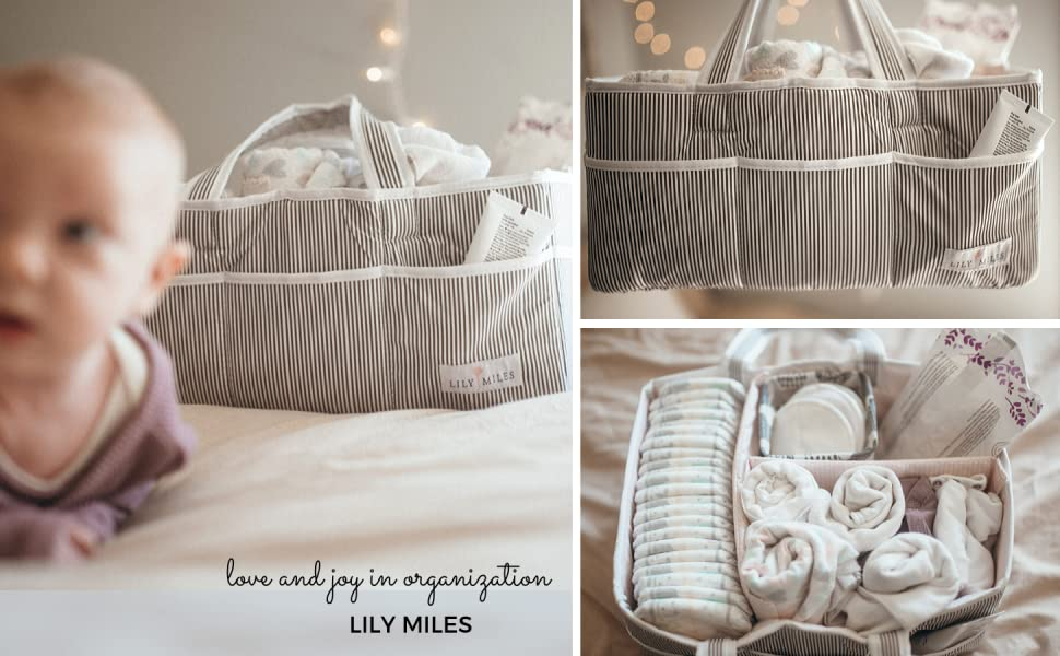 lily miles diaper caddy