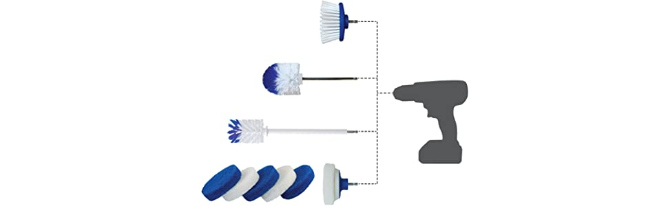 rotoscrub cleaning scrub brush drillbrush drill attachment