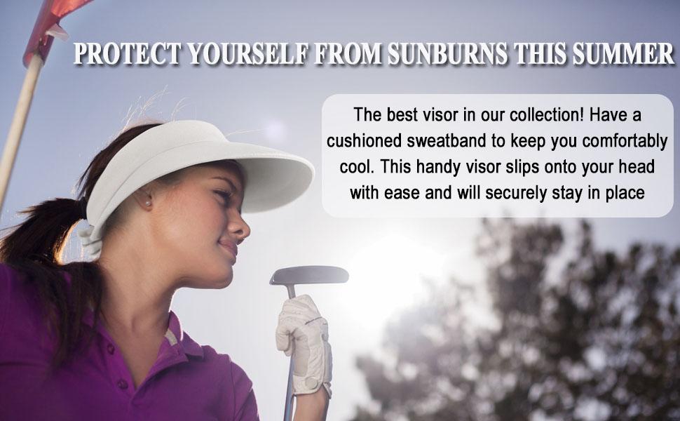 glof visor for women