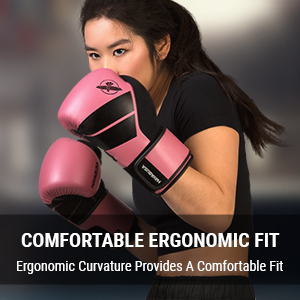 Athlete in Boxing Stance wearing Pink Hayabusa S4 Boxing Gloves