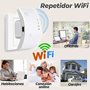 Repetidor WiFi Inalámbrico N Router Repetidor de 802.11N UNIVERSAL INALAMBRICO wireless extensor señal inalambrico wi-fi 300Mbps
