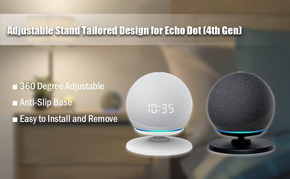 Adjustable Stand Tailored Design for Echo Dot (4th Gen)