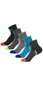 men's half thickness hiking socks