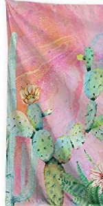 Pink Cactus tapestry wall hanging