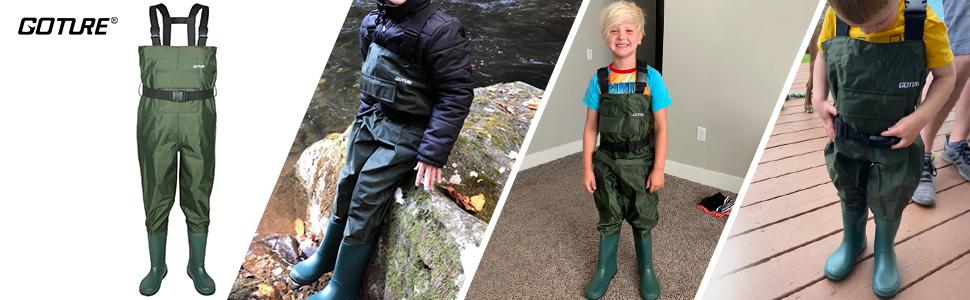 fishing kid waders