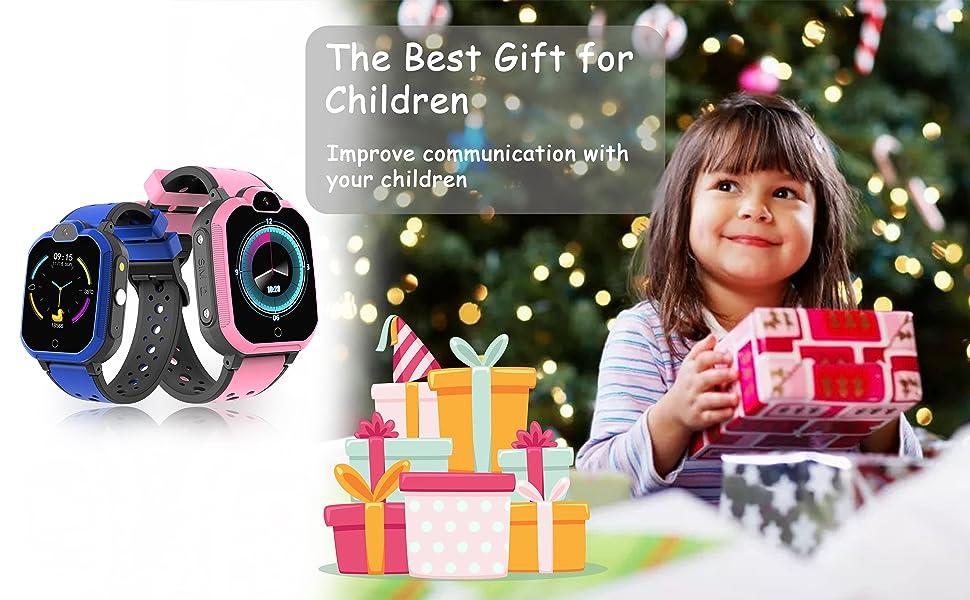 4G GPS Kids Smartwatch Phone - Boys Girls Waterproof Watch Alarm Pedometer WiFi Wrist Watch