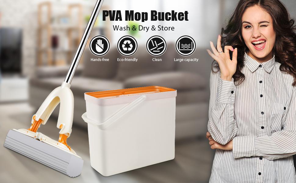 sponge mops for floor cleaning with bucket
