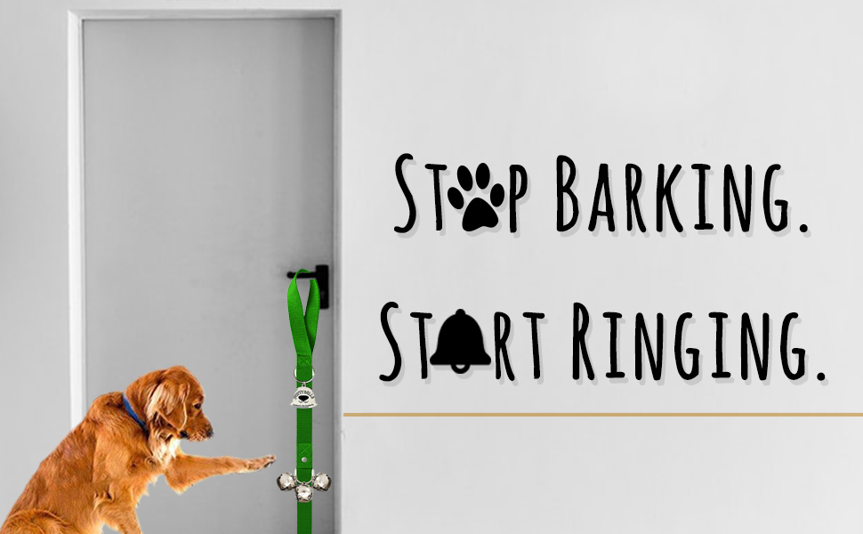 Dog Bell with Doggie Doorbell and Potty Training for Puppies Instructional Guide