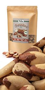 paranoten noot rauw niet geroosterd gebakken ongezouten gezouten zonder zout zoutvrij walnoot