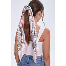 As a hair scarf