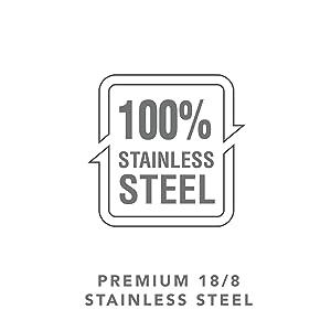 premuim 18/8 stainless steel