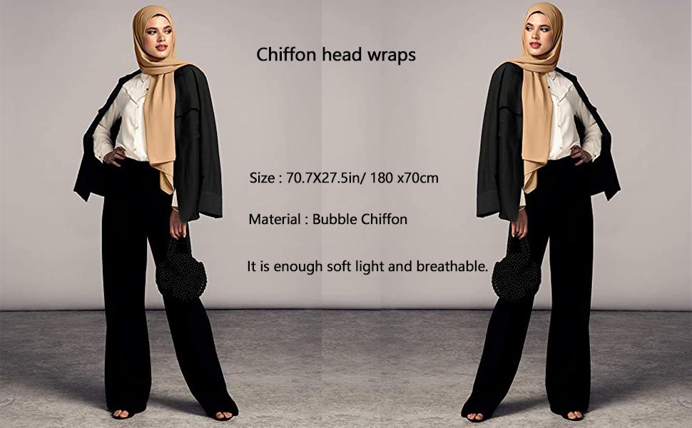 Chiffon head wraps